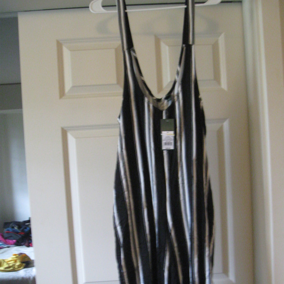 wild fable Pants - NWT WILDFABLE JUMPSUIT STRIPES M*FRESHIP